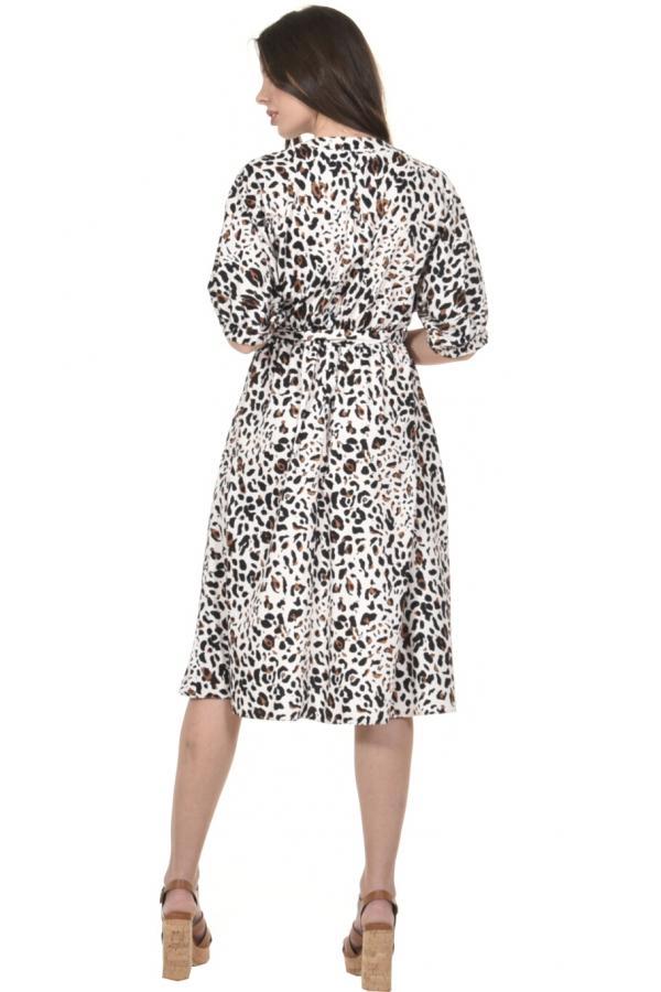 Bellino,  Φόρεμα midi με τρουακάρ μανίκι φαρδύ (ΚΑΝΕΛΑ, M)