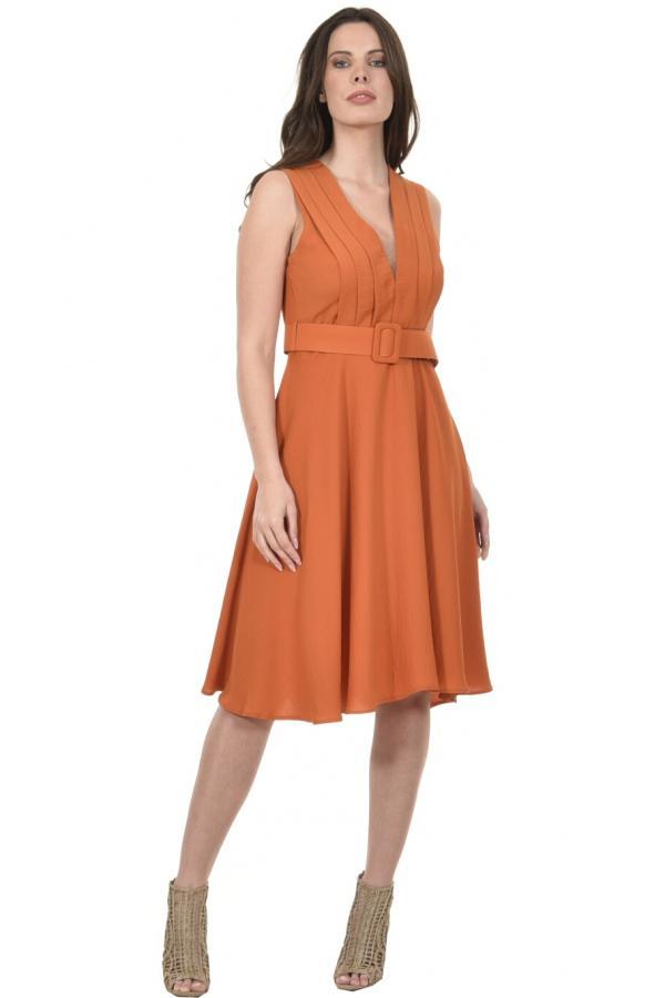 Bellino,  Φόρεμα midi με θηλυκό ντεκολτέ (ΚΕΡΑΜΙΔΙ, L)