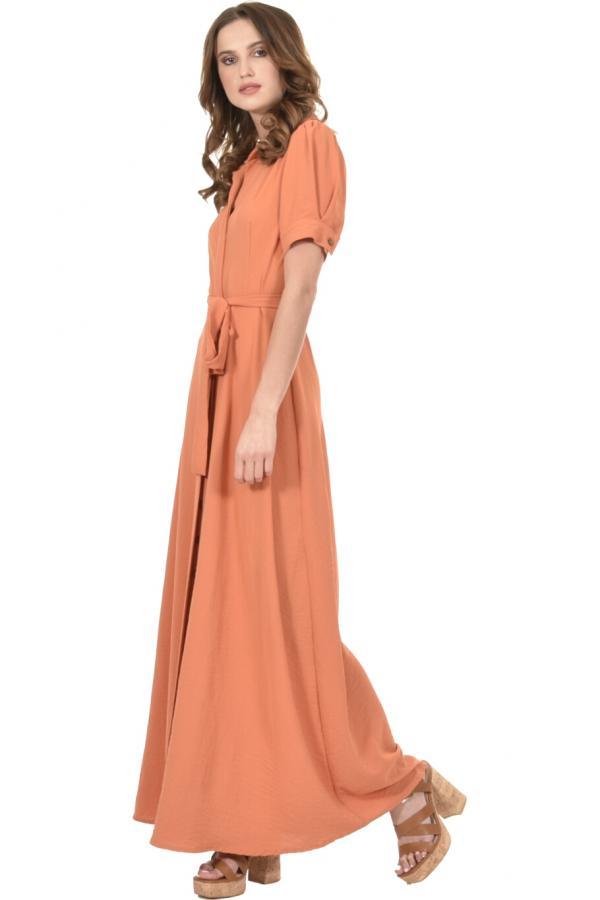 Bellino,  Φόρεμα maxi με κουμπιά εμπρός (ΚΑΝΕΛΑ, L)
