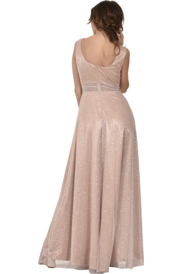 Bellino,  Φόρεμα σε τούλι lurex με ανοιχτή πλάτη (ΜΠΡΟΝΖΕ, XL)