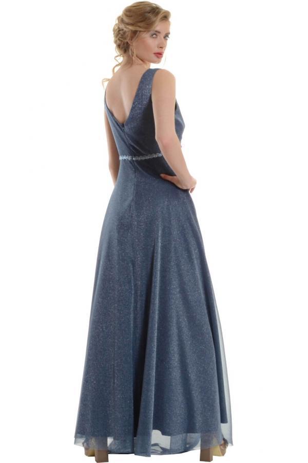 Bellino,  Φόρεμα cocktail σε lurex τούλι (ΙΝΤΙΓΚΟ, M)