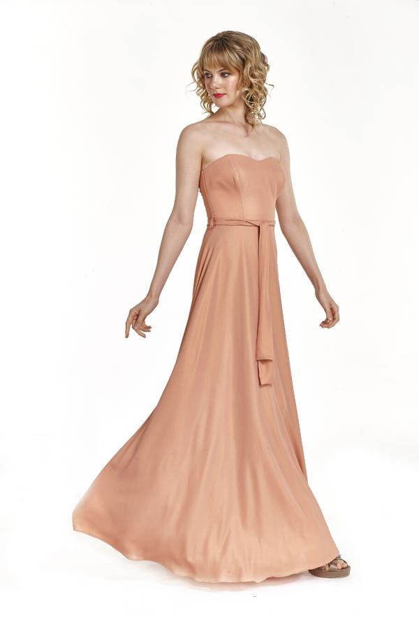 Bellino,  Φόρεμα cocktail maxi strapless (ΚΕΡΑΜΙΔΙ, L)