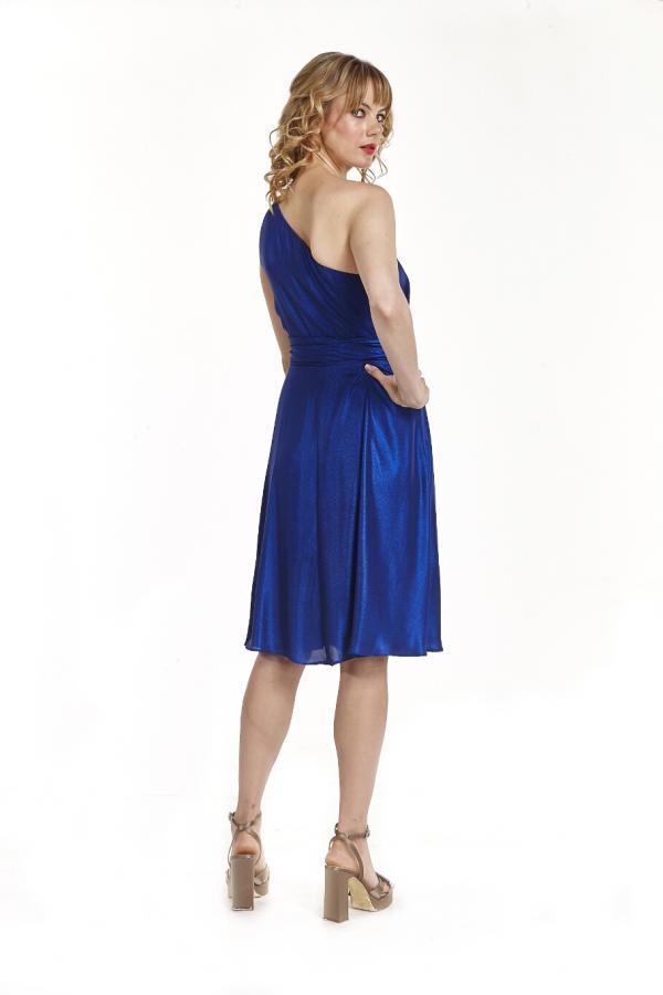 Bellino,  Φόρεμα midi lurex με έναν ώμο (ΜΠΛΕ, XXL)