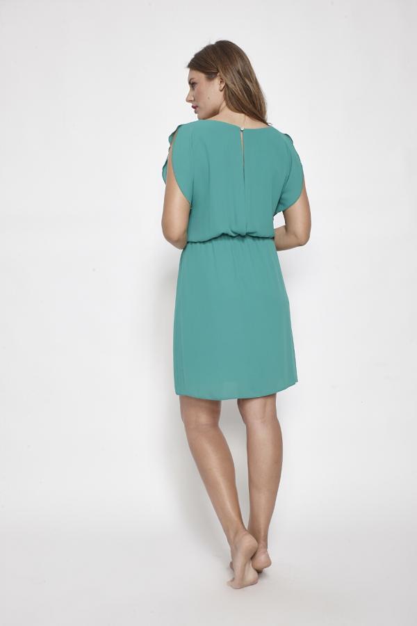 Bellino,  Φόρεμα mini με άνοιγμα στην πλάτη (ΠΡΑΣΙΝΟ, S)