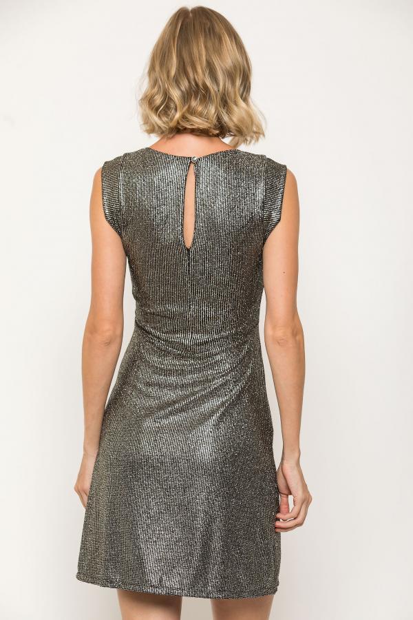 Bellino,  Φόρεμα mini εβαζέ σε lurex ύφασμα (ΑΣΗΜΙ, L)