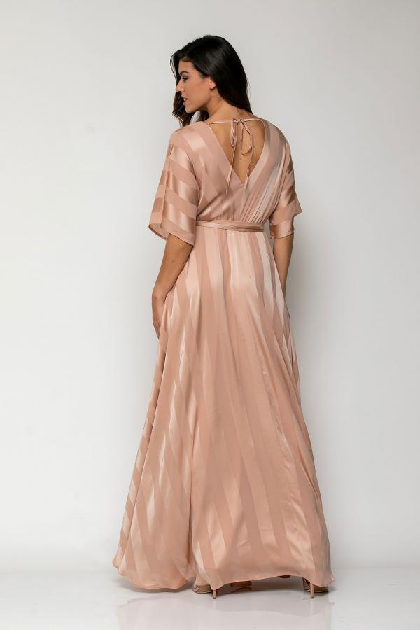 Bellino,  Φόρεμα καφτάνι ριγέ σε άνετη γραμμή (ΣΟΜΟΝ, XXL)