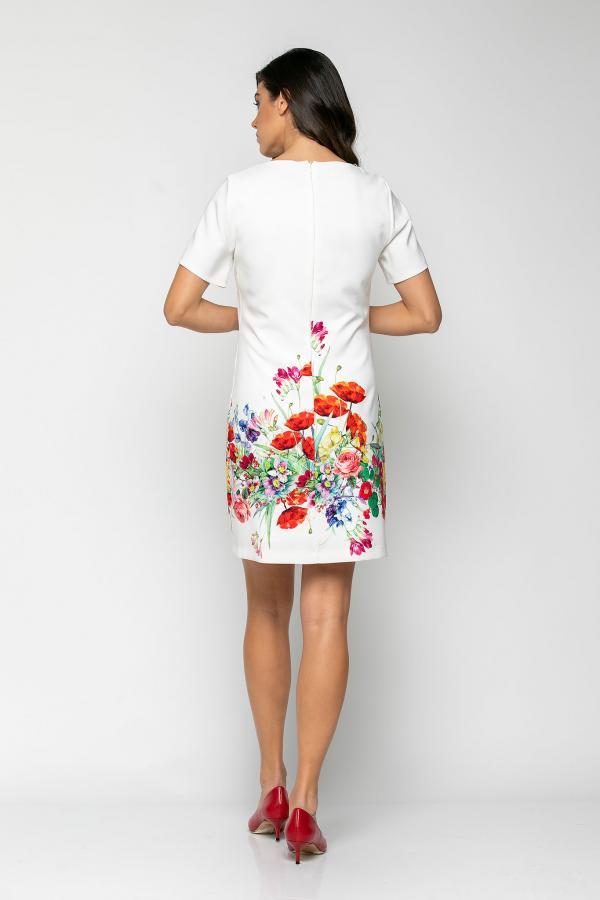 Bellino,  Φόρεμα mini σε άνετη γραμμή με μπορντούρα στο τελείωμα (ΕΚΡΟΥ, S)