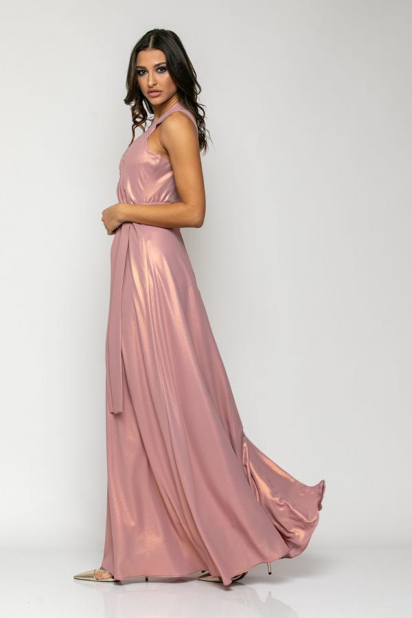 Bellino,  Φόρεμα με έναν ώμο και θηλυκό μπούστο σε σατέν ιριδίζον (ΜΩΒ, XXL)