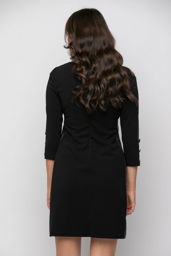 Bellino,  Φόρεμα σε θηλυκή γραμμή με φερμουάρ εμπρός και κουμπιά στο μανίκι (ΜΑΥΡΟ, L)
