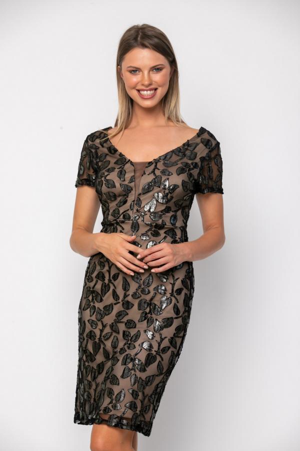 Bellino,  Φόρεμα cocktail midi σε στενή γραμμή (ΜΑΥΡΟ, M)