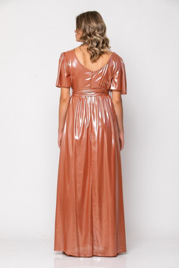 Bellino,  Φόρεμα cocktail μακρύ κρουαζέ (ΜΠΡΟΝΖΕ, L)