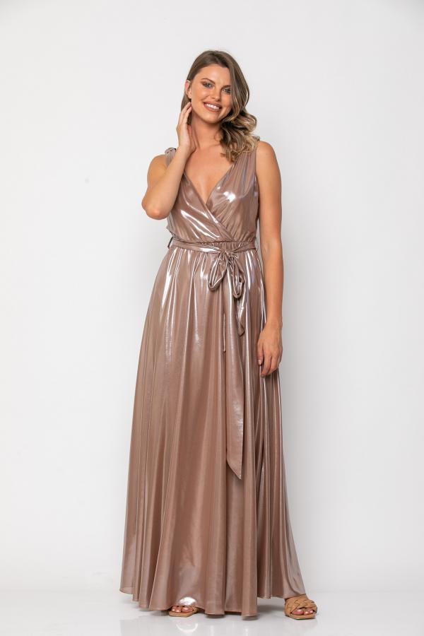 Bellino,  Φόρεμα cocktail maxi κρουαζέ (ΑΣΗΜΙ, L)