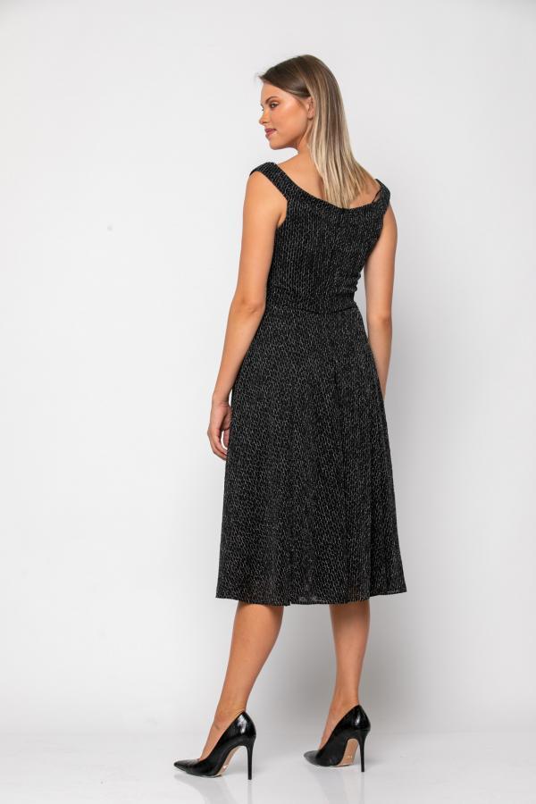 Bellino,  Φόρεμα midi σε jersey lurex με ζώνη στη μέση (ΑΣΗΜΙ, XL)