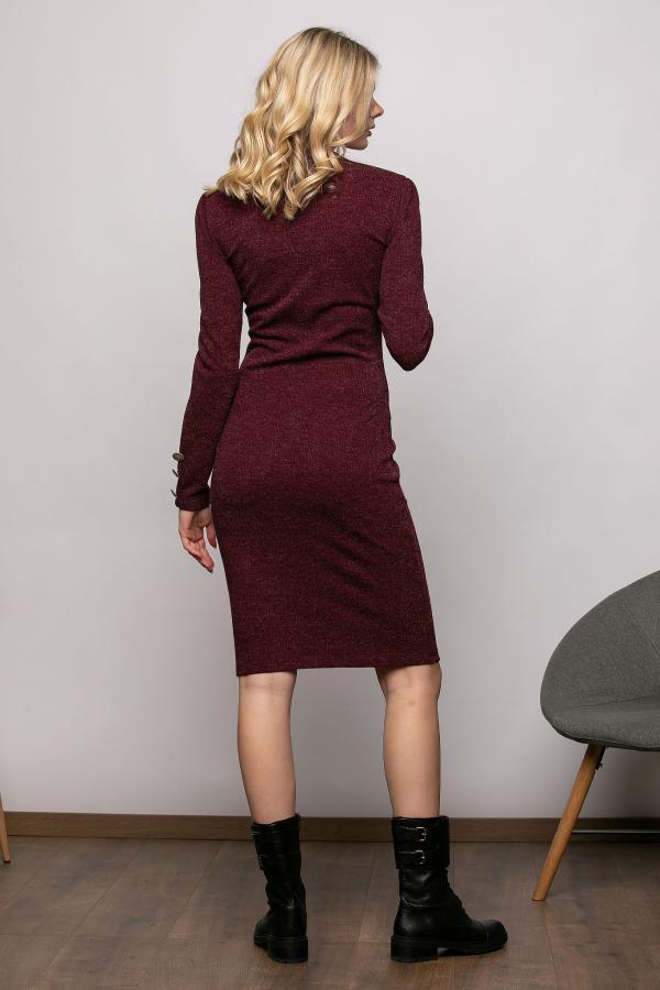 Bellino,  Φόρεμα πλεκτό (ΜΠΟΡΝΤΟ, S)