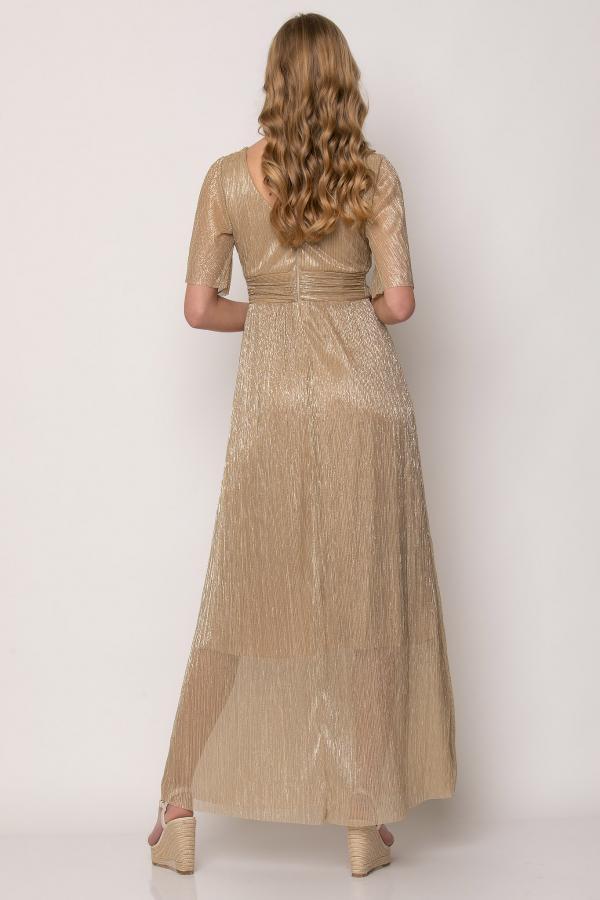 Bellino,  Φόρεμα cocktail κρουαζέ με φαρδύ μανίκι (ΧΡΥΣΟ, S)