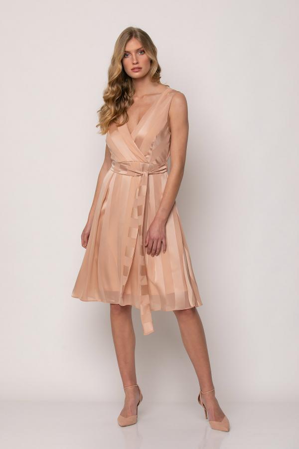 Bellino,  Φόρεμα κρουαζέ midi με ζώνη (ΣΟΜΟΝ, L)