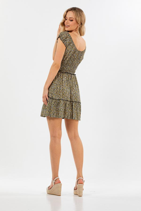 Bellino,  Φόρεμα floral (ΚΙΤΡΙΝΟ, L)
