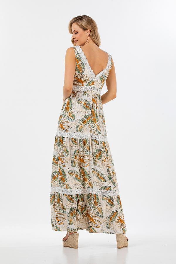 Bellino,  Φόρεμα μακρύ εμπριμέ (ΒΕΡΑΜΑΝ, L)