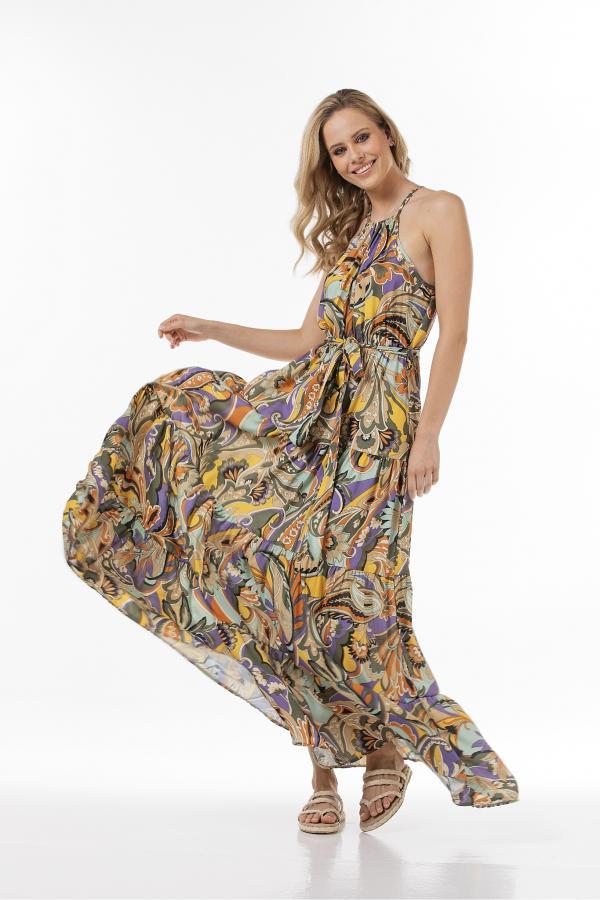 Bellino,  Φόρεμα εμπριμέ (ΩΧΡΑ, L)
