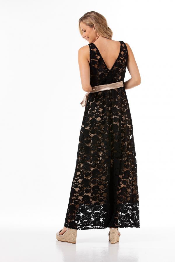 Bellino,  Φόρεμα δαντέλα (ΜΑΥΡΟ, M)