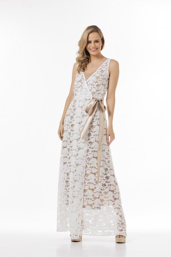Bellino,  Φόρεμα δαντέλα (ΕΚΡΟΥ, XL)