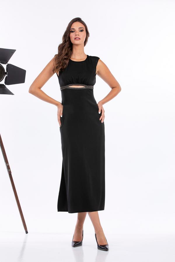 Bellino,  Φόρεμα σατέν midi (ΜΑΥΡΟ, XL)