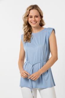 Bellino,  Μπλούζα με βάτες στους ώμους και ζωνάκι στη μέση (ΣΙΕΛ, XL)