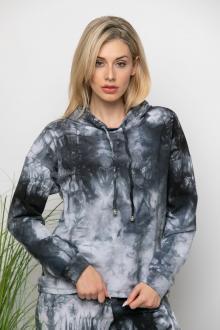Bellino,  Μπλούζα φούτερ με κουκούλα και κορδόνι αυξομείωσης (ΓΚΡΙ, L)