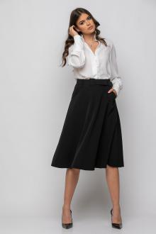 Bellino,  Φούστα midi με τσέπες και ζώνη στη μέση (ΜΑΥΡΟ, L)