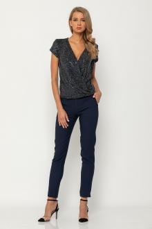 Bellino,  Παντελόνι με μπάσκα στη μέση και τσέπες (ΜΠΛΕ, XXL)