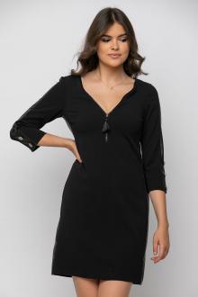 Bellino,  Φόρεμα σε θηλυκή γραμμή με φερμουάρ εμπρός και κουμπιά στο μανίκι (ΜΑΥΡΟ, XL)