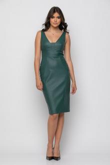 Bellino,  Φόρεμα midi σε δερματίνη σε στενή θηλυκή γραμμή (ΠΡΑΣΙΝΟ, M)