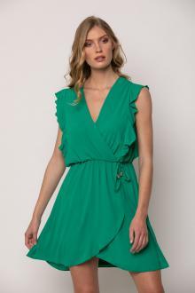 Bellino,  Φόρεμα mini κρουαζέ με βολάν (ΠΡΑΣΙΝΟ, L)
