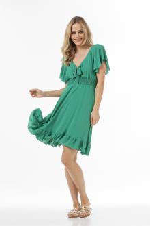 Bellino,  Φόρεμα mini με δέσιμο εμπρός με κρουαζέ μανίκι (ΠΡΑΣΙΝΟ, L)