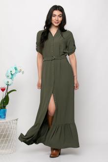 Bellino,  Φόρεμα με βολάν, τσέπες εμπρός και ζώνη στη μέση (ΧΑΚΙ, L)
