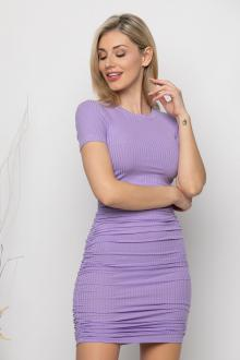 Bellino,  Φόρεμα mini σε ριπ διάταξη με σούρες (ΜΩΒ, L)