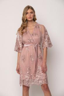 Bellino,  Φόρεμα mini κρουαζέ σε τούλι κεντημένο (ΣΟΜΟΝ, L)