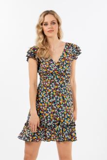 Bellino,  Φόρεμα floral κρουαζέ (ΚΙΤΡΙΝΟ, L)