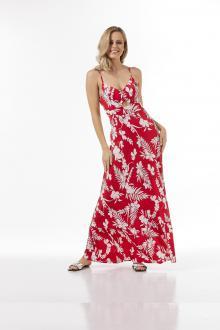 Bellino,  Φόρεμα μακρύ (ΚΟΚΚΙΝΟ, L)