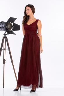 Bellino,  Φόρεμα lurex πλισέ (ΜΠΟΡΝΤΟ, M)