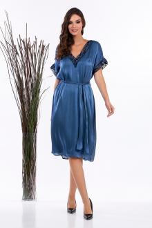 Bellino,  Φόρεμα midi σατέν μουσελίνα (ΜΠΛΕ, L)