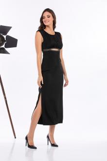 Bellino,  Φόρεμα σατέν midi (ΜΑΥΡΟ, L)