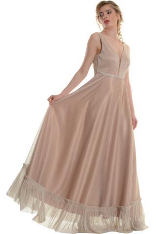 Bellino,  Φόρεμα cocktail σε lurex τούλι (ΧΡΥΣΟ, M)