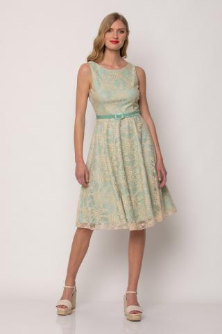 Bellino,  Φόρεμα midi με ζώνη και ανοιχτή πλάτη (ΜΕΝΤΑ, S)