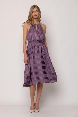 Bellino,  Φόρεμα cocktail midi κλος με παρτούς ώμους (ΜΩΒ, S)