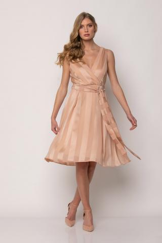 Bellino,  Φόρεμα κρουαζέ midi με ζώνη (ΣΟΜΟΝ, S)