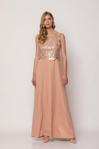 Bellino,  Φόρεμα μακρύ με δέσιμο στην πλάτη (ΣΟΜΟΝ, S)