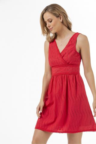 Bellino,  Φόρεμα broderie mini (ΚΟΡΑΛΙ, L)
