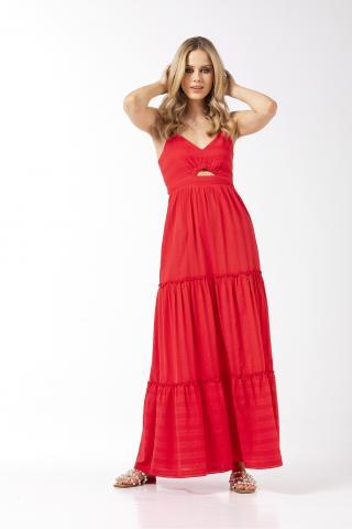 Bellino,  Φόρεμα βαμβακερό (ΚΟΡΑΛΙ, M)