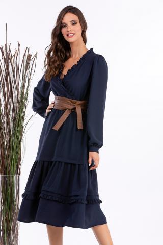 Bellino,  Φόρεμα midi ελαστικό (ΜΠΛΕ, L)
